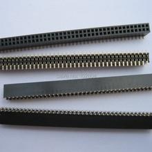 10 шт. Позолоченный SMD SMT шаг 1,27 мм ломкий женский штыревой разъем 2x40 80pin двухрядная полоса H = 4,3 мм