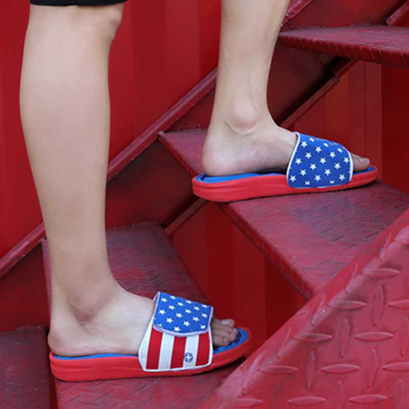 Mens Slippers Breathable Star Striped Memory Foam Indoor Comfortable Flip Flops Beach Sandals Outdoor New Summer Sandals Men