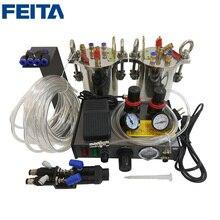 1set AB Mixing Doming Liquid Glue Dispensing Machine + 1000pcs Dispensing Tip Part for 1:1 Glue