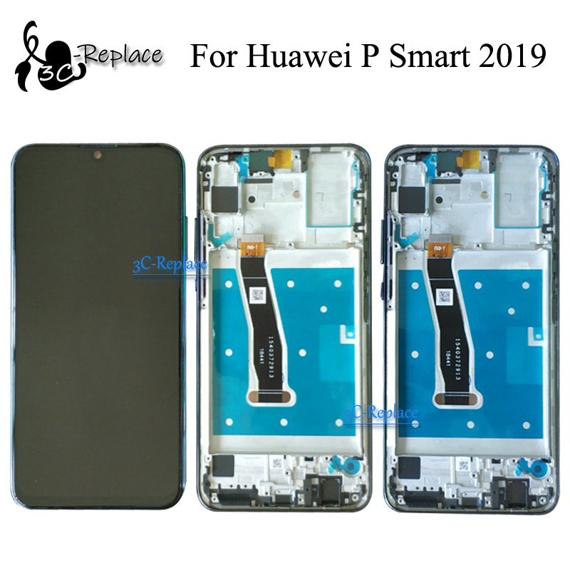 Original Black Blue 6 21 inch NEW For Huawei P Smart 2019 LCD Display Touch Screen