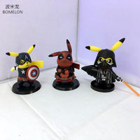 Kawaii Pikachu Cosplay Darth Action Figure Model 11CM PVC Doll Pocket Monster Anime Figures Boys Toys