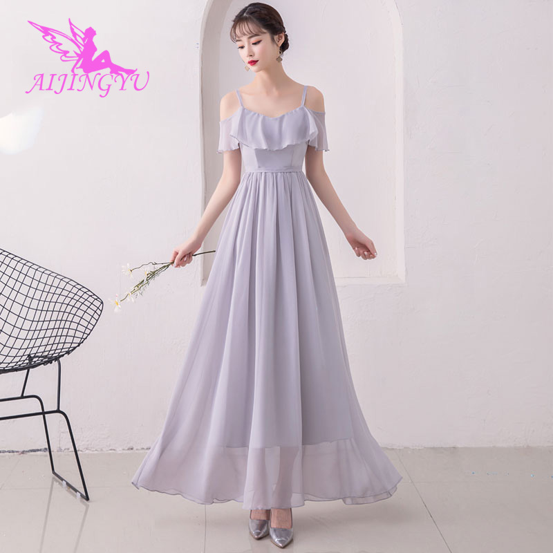 AIJINGYU 2018 Girl Sexy Women's Gown Prom Dress Plus Size Bridesmaid Dress BN188