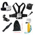 For Gopro hero 4 5 Accessories set Floating Chest Head Hand Helmet Mount strap for Go pro SJCAM SJ4000 SJ5000X Action camera 52