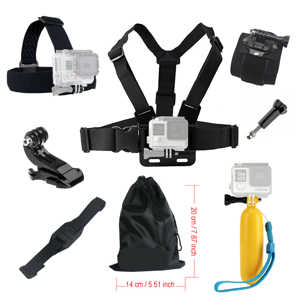 action camera Accessories kit for Gopro xiaomi yi with Chest Head Strap