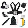 Para acessórios gopro hero 4 5 conjunto flutuante cabeça no peito mão helmet strap mount para go pro sj5000x sjcam sj4000 câmera de ação 52