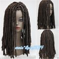 Fairy Ladies Wig Dreadlock Wigs Long Medium brown Curls Hair Cosplay fancy dress heat resistant fibers Hair wigs ePacket Free sh