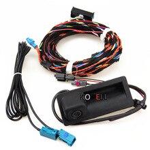 New Car RGB Reversing Video Camera Webcam + Plug Harness For VW Tiguan A4 A6 Q5 A7 S6 5N0827566C