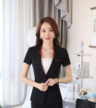Damen Uniform Styles Formale Blazer Professionelle 2016 Sommer Kurzarm  Business Arbeit Tragen Weibliche Jacken Blaser Outwear 790cd2f11b