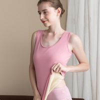 2019 New Female Silk Velour Thermal Vest Double Thickened Cold Proof Silk Velour Underwear