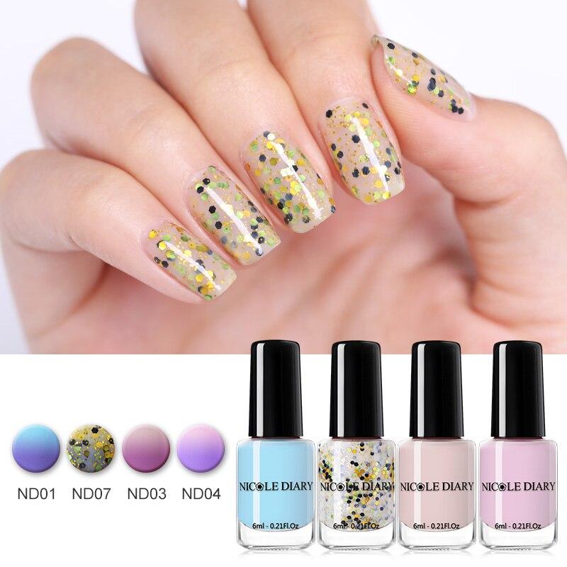 Bescheiden Nicole Tagebuch 6 Ml Ablösen Nagellack Sonnenlicht Sensitive Farbwechsel Nagellack Lack Bunte Maniküre Nail Art Lack Nails Art & Werkzeuge