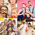 20pcs Family Friends Party Photo Booth Props Kit Set on Sticks Funny Baby Kids Gags Toys