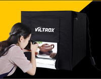 Viltrox 60*60cm LED Photo Studio Softbox Light Tent Soft Box +AC Adapter +Backgrounds for Phone Camera DSLR Jewelry Toys Shoes 2