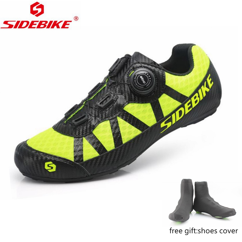 SIDEBIKE Road Cycling Shoes Women Men Non-lock Bike Shoes Breathable MTB Cycling bicycle Sneakers Sapatilha Ciclismo Zapatillas racmmer cycling gloves guantes ciclismo non slip breathable mens