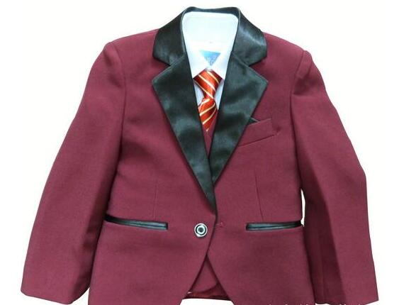 2017New Arrival 3 Piece Costume for Boys Toddler Solid Two Pocket Blazer Suit Children Wedding Party