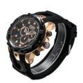 Brasil hot rose gold watch bandwatch silicone strap preto sports mens relógios top marca de luxo relogio masculino de luxo