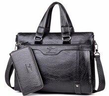 New Fashion Leather Men Bag Famous Brand Shoulder Bag Messenger Bags Causal Handbag Laptop Briefcase Male