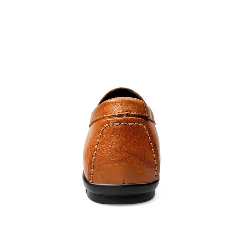 Shoes D'affaires Grande Carrière Taille Merkmak Cuir Hommes Confortable Chaussures Doux Mode brown De Luxe Shoes Casual Mocassins En Véritable Plat Black U6AEF6qw