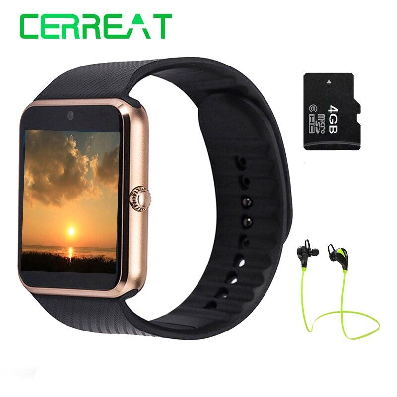Galleria fotografica GT08 Bluetooth Montre Smart Watch Téléphone Soutien TF Carte SIM Caméra <font><b>Smartwatch</b></font> Reloj Inteligente Pour Android IOS PK DZ09 GD19