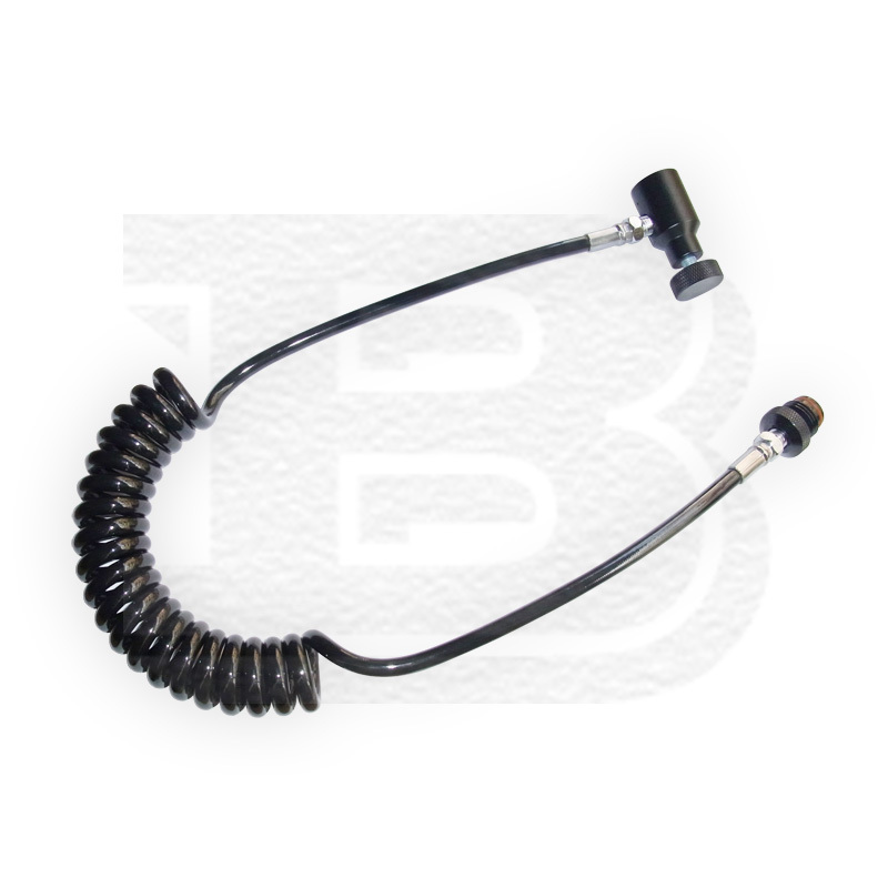 New Paintball PCP Coil Remote Hose Without Quick Disconnect(BLACK)