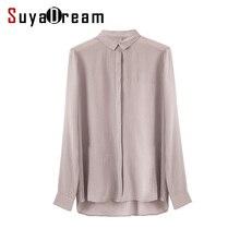 100% натуральный шелк Простые блузки женские длинные рукава шифон Шелковый blusas femininas офис леди свободную рубашку 2017 Новый