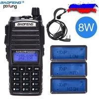 2018 Baofeng UV 82 Plus 8W 10KM Long Range Powerful Walkie Talkie Portable CB vhf/uhf two way Radio Amador 8 watts of UV82 Plus