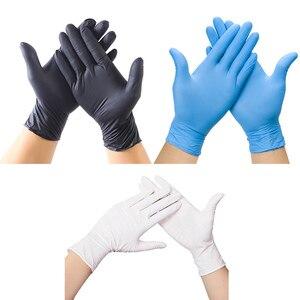 Image 3 - Wegwerp Zwarte Handschoenen 20Pcs Huishoudelijke Schoonmaakmiddelen Wassen Handschoenen Nitril Laboratorium Nail Art Tattoo Anti Statische Handschoenen