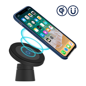 Image 2 - QI Fast Charging Wireless Car Charger Magnetic Wireless Charge In Car 10W Magnet Mount Air Vent Dashboard Car Phone Holder