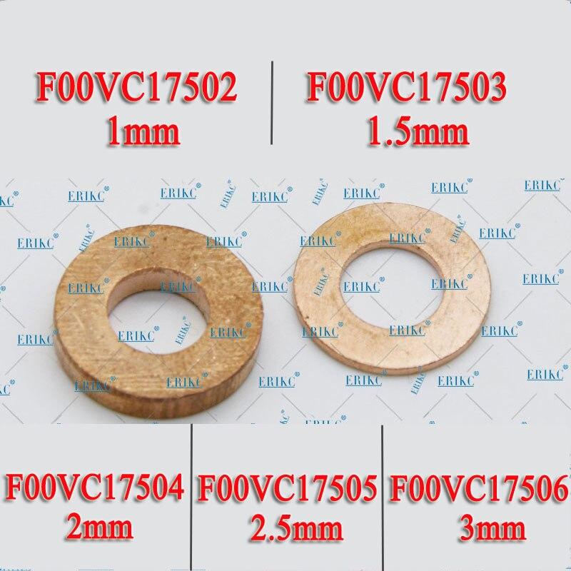 ERIKC 10 pièces/lot injecteurs de carburant à rampe commune rondelles en cuivre F00VC17504 buse Diesel bouclier thermique F00VC17503 F00VC17505 pour BOSCH