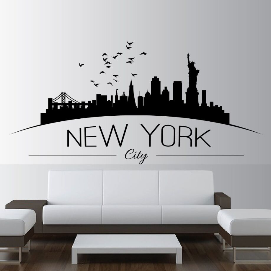Home Decor Large NYC New York City Skyline Wall Decals