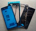 Full Housing Front Chassis + Middle Frame + Port Plug Cover + Back Battery Cover + Sticker for Sony Xperia Z1 Compact D5503