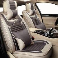 Automobiles New Flax Universal car seat cover for fiat albea bravo Doblo freemont grande punto linea marea palio Panda Punto