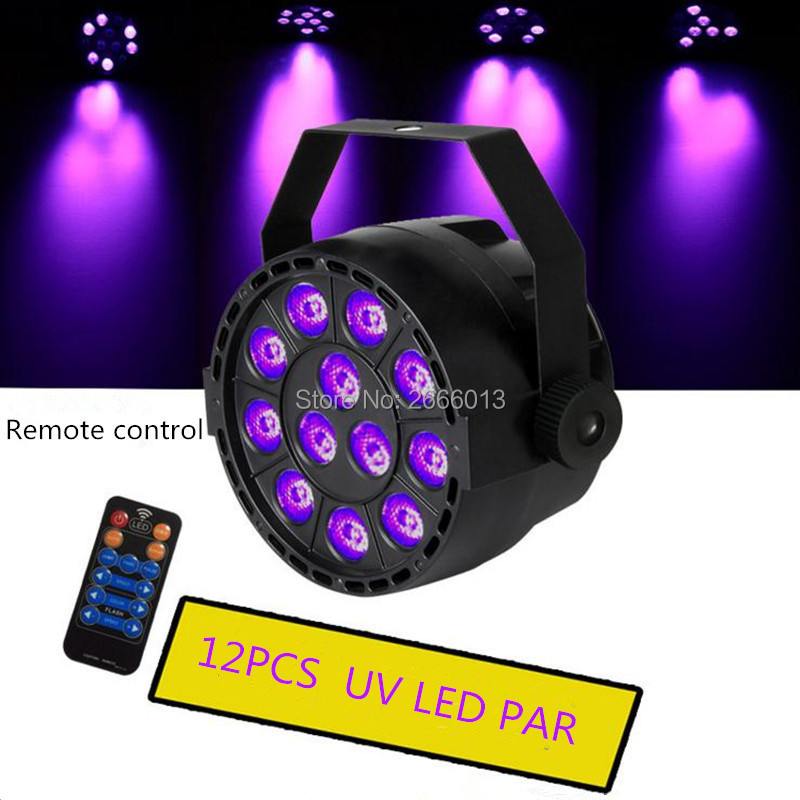 With Reomte control 36W UV Led Stage light Ultraviolet Led par Light for Stage KTV Party Pub Club Disco lamp UV purple LED light 36w uv led stage light black light par light ultraviolet led spotligh lamp with dmx512 for disco dj club show party decoration