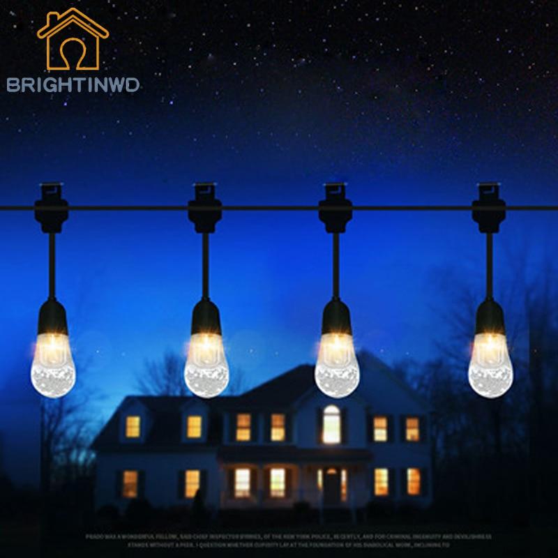 New Solar String Light 12LED Lamp Head Decorative Lantern White/Colorful Lights Outdoor Garden Railing Lighting Waterproof