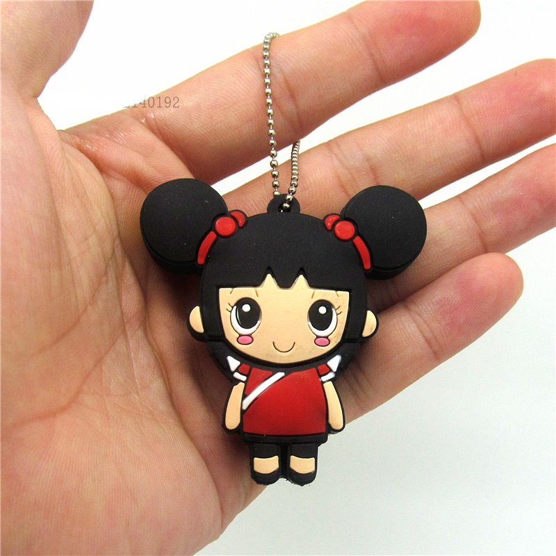 Constructive Cute Kawaii Girl Model Usb Flash Drive Memory U Stick Pen Drive Card Pendrive With Keychain 32gb 16gb 8gb 4gb 128mb Super Gift To Ensure Smooth Transmission Usb Flash Drives Computer & Office