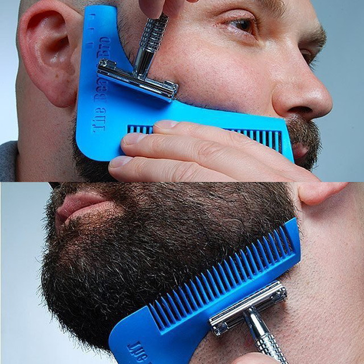 goatee trimming template - man beard beard styling beard comb template for perfect