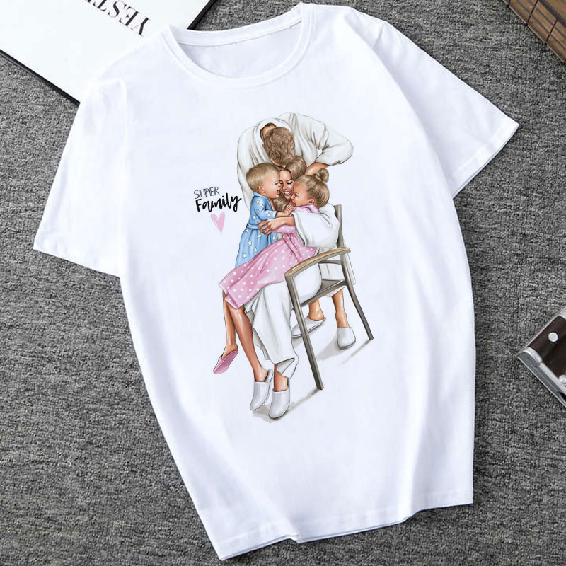 Women Clothes 2019 Summer Harajuku Kawaii Super Mom Tshirt Leisure And Comfort Vogue Female   T     Shirt   Maternal Love Eternal   Shirt