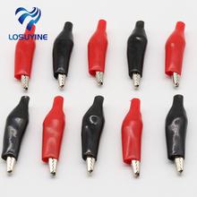 IMC Hot 20, Pcs 35mm black red soft plastic coating test probe, alligator clip, crocodile test clip