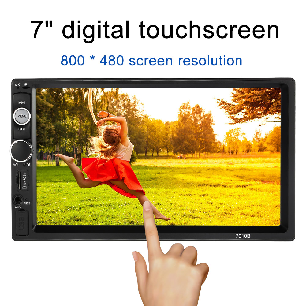 2 Din Car Radio 7 inch HD Touch Scree Bluetooth Double Din Car Radio MP5 Player Multimedia Radio Entertainment USB/TF FM Aux 7 hd 2din car stereo bluetooth mp5 player gps navigation support tf usb aux fm radio rearview camera fm radio usb tf aux