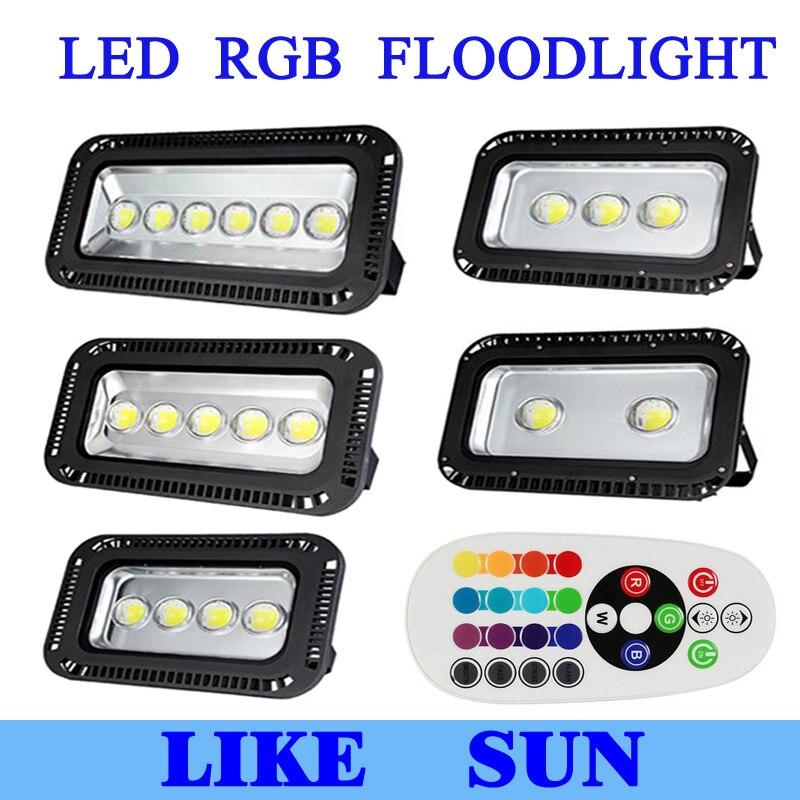 AC85 265V 200 Вт 300 Вт 400 Вт 500 Вт 600 Вт Светодиодный прожектор RGB наружный светодиодный прожектор лампа водонепроницаемый светодиодный туннельный светильник уличная лампа