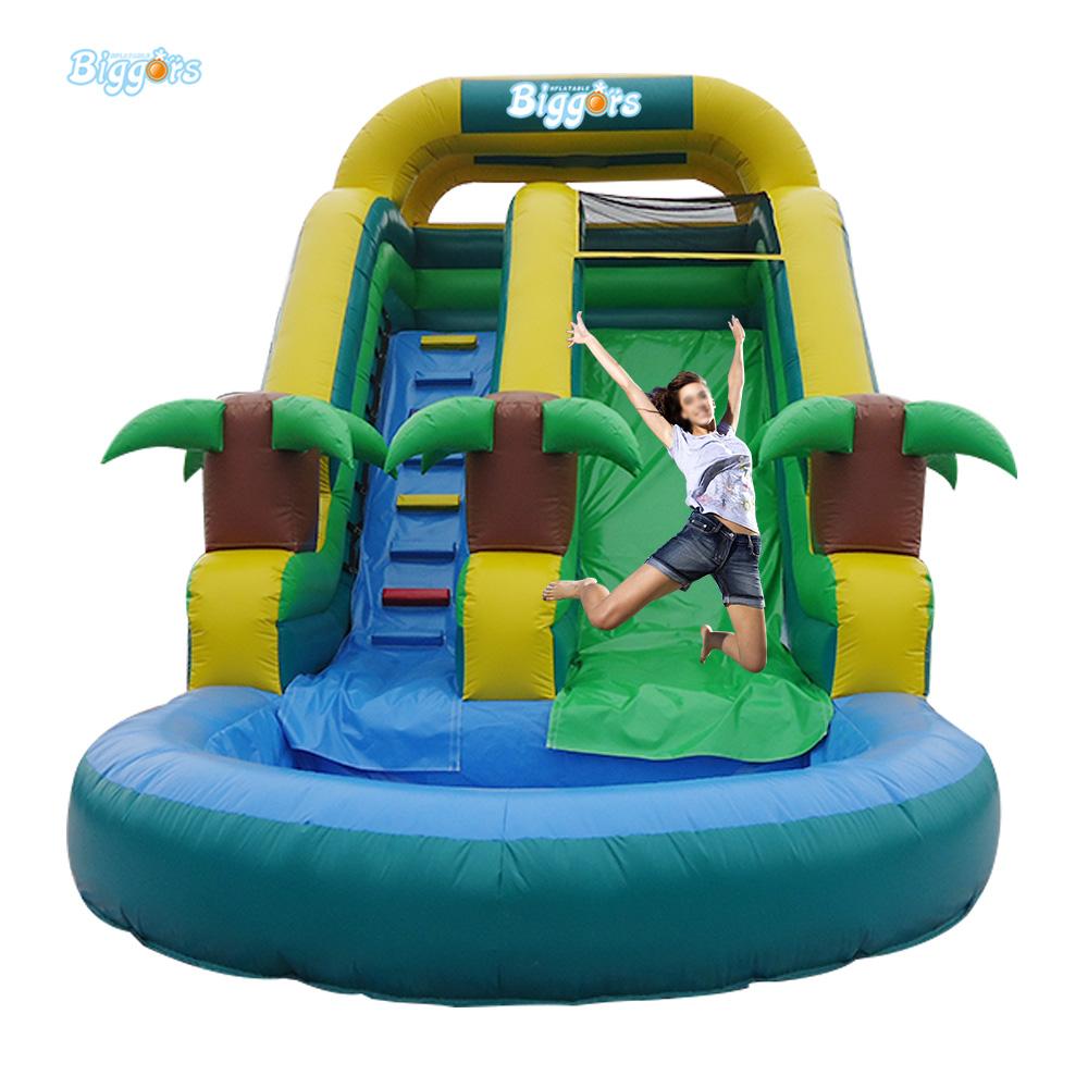 el transporte martimo de xx m tobogan inflable tobogn de la piscina inflable juguetes para nios toboganes de agua