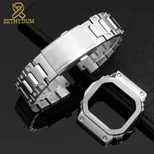คุณภาพสูงสแตนเลสสตีลสำหรับ Casio G shock GW M5610 DW5600 G 5600E GW B5600 นาฬิกาและกรณีสายคล้องโลหะ