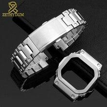 高品質固体ステンレス鋼時計バンド casio g shock GW M5610 DW5600 G 5600E GW B5600 時計バンドとケース金属ストラップ