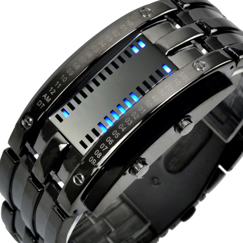 SKMEI Casual Creative Watches Men Fashion Digital LED Display Alloy Band 50M Waterproof Shock Resistant Clock 0926