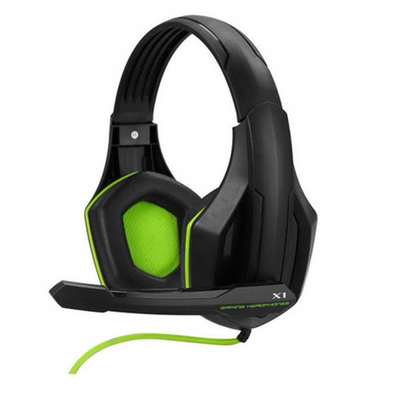 High Quality Gaming Headset With Microphone Stereo Super Bass Headphones For Gamer PC Computer Over Head Cool Wire Headphone+