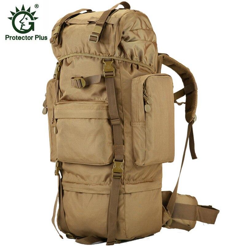 70 l metal bracket backpack outdoor sports bag military tactical bags hiking camping waterproof wear
