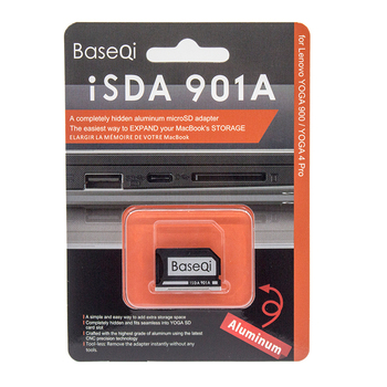 BaseQi Aluminum Memory Card Adapter Stealth Drive Micro SD to SD Adapter TF Flash Memory Card Reader For ASUS A401L/ASUS U4100