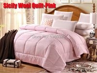150*200cm solteiro Wool Winter Quilt Autumn Blanket colchas casal Pink Comforter Bedding Sets Twin Size Thickening edredom