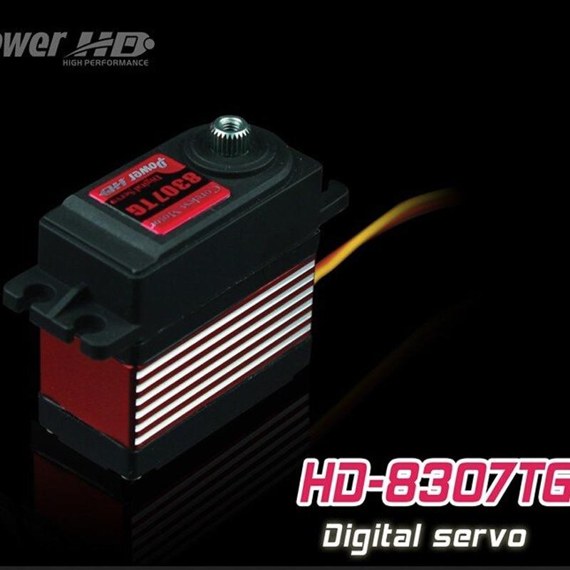 1pcs 100% orginal POWER HD servo DS-8307TG 8.5KG 0.08sec high speed metal gear digital servo 1pcs power hd 8315tg 16kg high torque metal gear digital servo suitable for bigfoot car 0 16 sec 4 8v 0 14 sec 6 0v