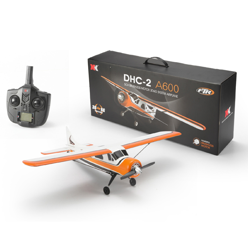 New XK A600 5CH 3D6G System Brushless RC Airplane Plane model 1-2 Compatible Futaba RTF Model 2 upgraded F949 original xk dhc 2 a600 2 4ghz 6ch transmitter for xk a600 a700 a430 rc airplane drone