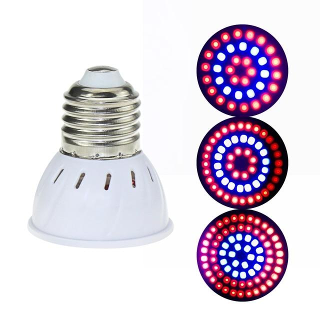 Lámpara de crecimiento LED E27/GU10/MR16 220 V Luz de planta 36 54 72 LED luces de crecimiento de espectro completo led rojo azul para la lámpara Fito de crecimiento de plantas